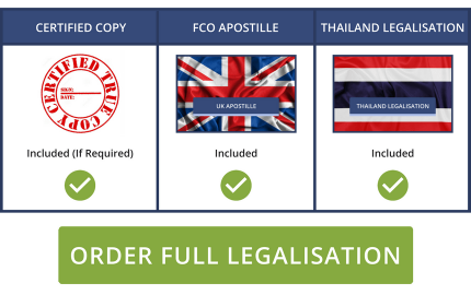 Full Thai Legalisation Service