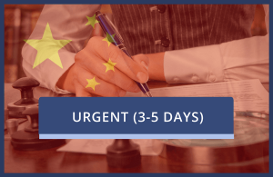 China Urgent - Inc Certification