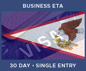 United Kingdom Single Entry Business ETA eVisa For American Samoa (30 Day 30 Day)
