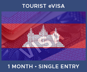 United Kingdom Single Entry Tourist eVisa For Cambodia (1 Month 30 Day)