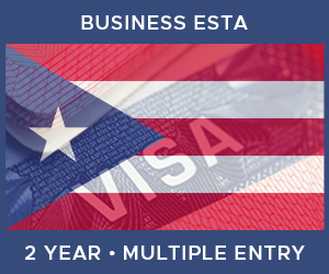 United Kingdom Multiple Entry Business ESTA For Puerto Rico (2 Year 90 Day)