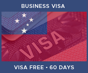 United Kingdom Business Visa For Samoa (60 Day Visa Free Period)