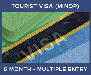 United Kingdom Multiple Entry Minor Visa For Tanzania (6 Month 90 Day)