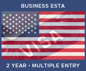 United Kingdom Multiple Entry Business ESTA For United States (2 Year 90 Day)