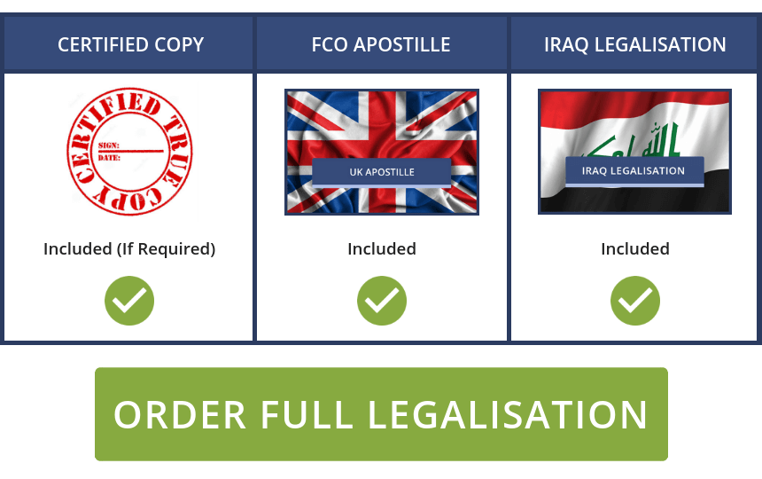 Full Iraq Legalisation Service