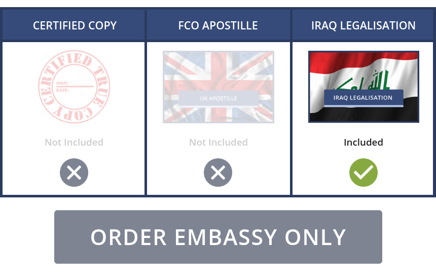 Iraq Embassy Only