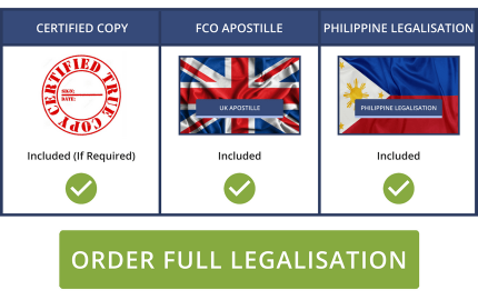 Full Philippine Legalisation Service