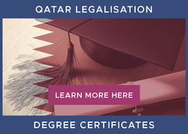 Legalisation of Degree Certificates for Qatar[1]