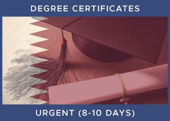 Qatar Degree Legalisation Inc Certification - Urgent