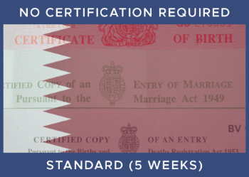 QATAR Standard - No Certification