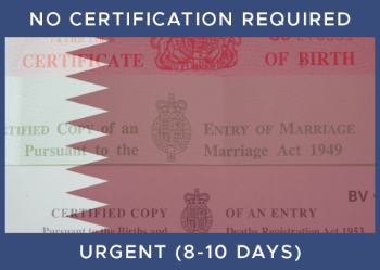 QATAR   Urgent  -  No Certification