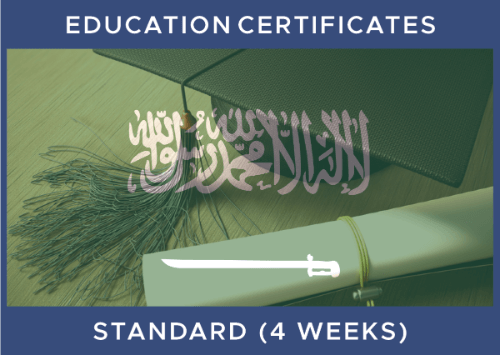 Saudi - Educational Certificate (4 Weeks)