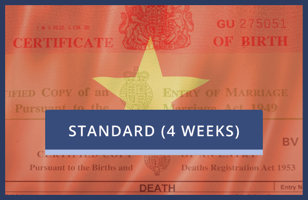 Vietnam Standard - No Certification